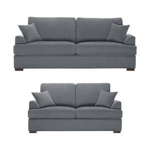 Dvojdielna sedacia súprava Jalouse Maison Irina, sivá