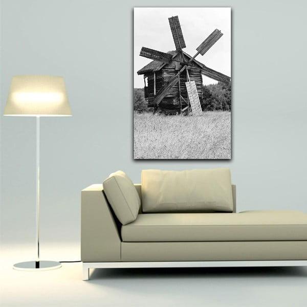 Obraz Black&White Windmill, 45 x 70 cm