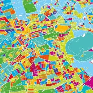 Obraz Homemania Maps Edinburgh, 60×60 cm