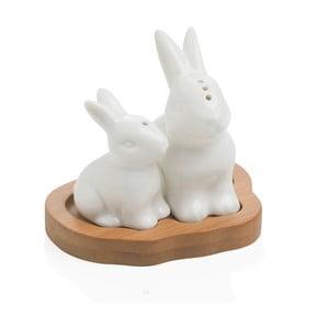 Soľnička a korenička s podnosom Brandani Rabbit