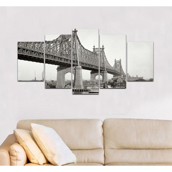 Viacdielny obraz Black&White no. 98, 100x50 cm