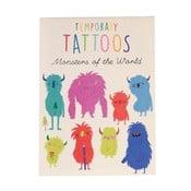 Sada 2 listov dočasných tetovaní Rex London Monsters Of The World