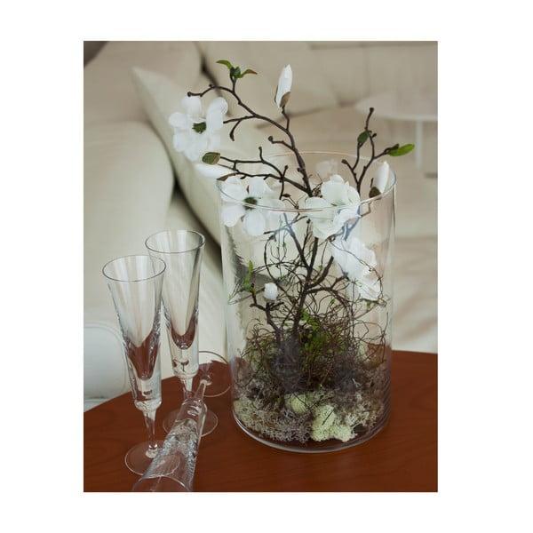 Kvetinová dekorácia od Aranžérie, biela magnólia vo váze