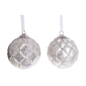 Sada 2 béžových sklenených závesných dekorácií Ewax Lush