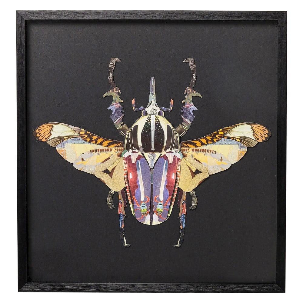 Zarámovaný obraz Kare Design Beetle, 60 x 60 cm