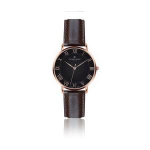 Pánske hodinky s tmavohnedým remienkom z pravej kože Frederic Graff Rose dom Dark Brown Leather