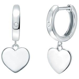 Strieborné náušnice s pravým diamantom Tess Diamonds Helaine