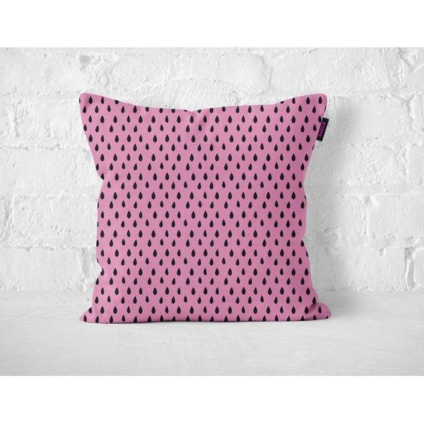 Vankúš Pink Drops, 40x40 cm