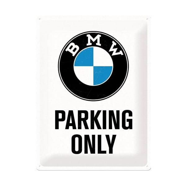 Plechová ceduľa BMW Parkings, 30x40 cm
