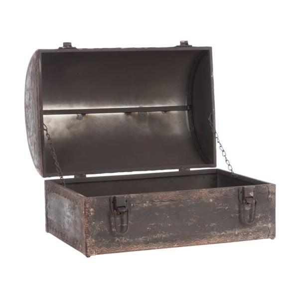 Truhla Antique Metal Trunk, 38x27x25 cm