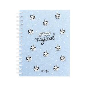 Modrý bodkovaný zápisník Mr. Wonderful Stay Magical