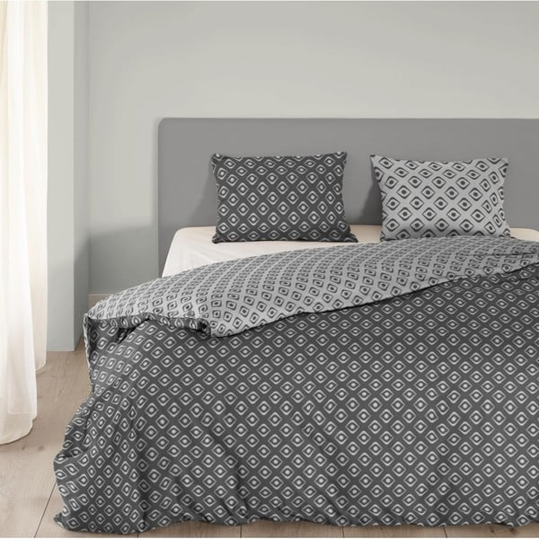 Sivé bavlnené obliečky Mundotextil Pattern, 240x200 cm