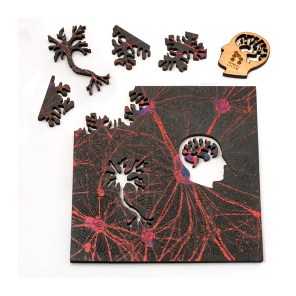 Puzzle Red Neural Network, 12,7x12,7 cm