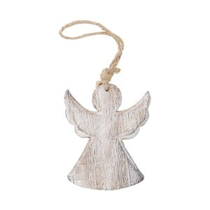 Závesný drevený anjel Ego Dekor, výška 13 cm