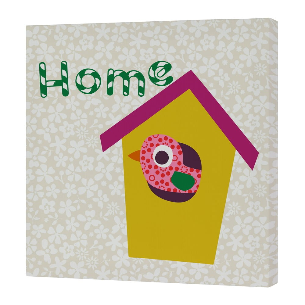 Nástenný obrázok Sweet Home Yellow, 27 × 27 cm