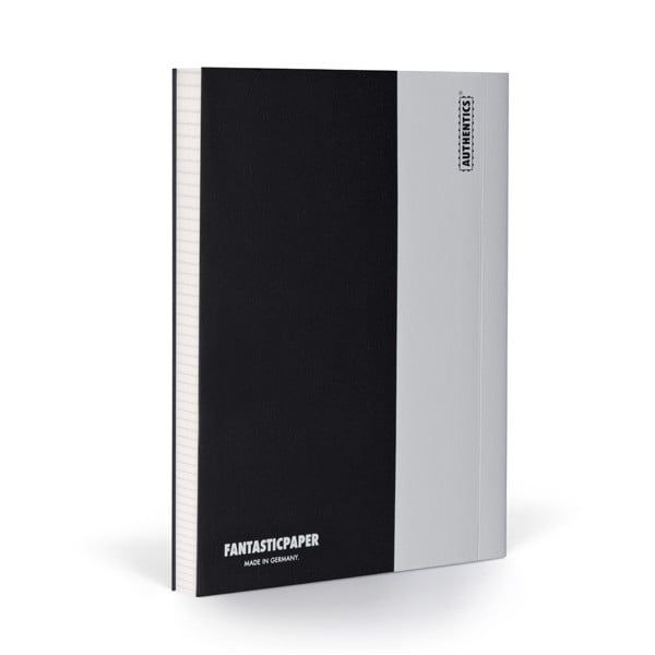 Zápisník FANTASTICPAPER A5 Black/Coolgrey, štvorčekový