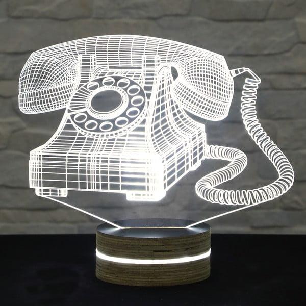 3D stolová lampa Old Phone