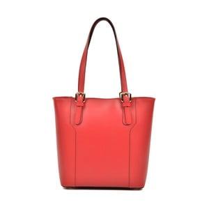 Červená kožená kabelka Luisa Vannino Cecilia