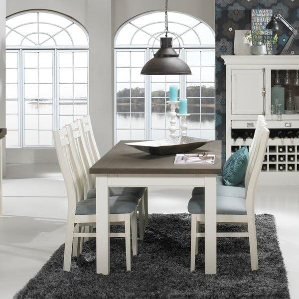 Biely rozkladací jedálenský stôl Canett Skagen Butterfly, 200 cm