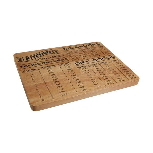 Doštička na krájanie z dreva kaučukovníka Premier Housewares Convrsion, 35 x 27 cm