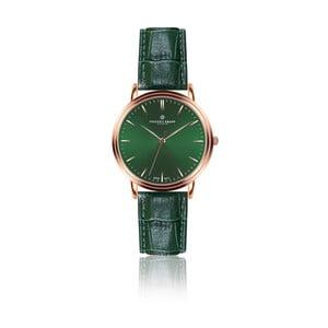 Pánske hodinky s tmavozeleným remienkom z pravej kože Frederic Graff Grunhorn