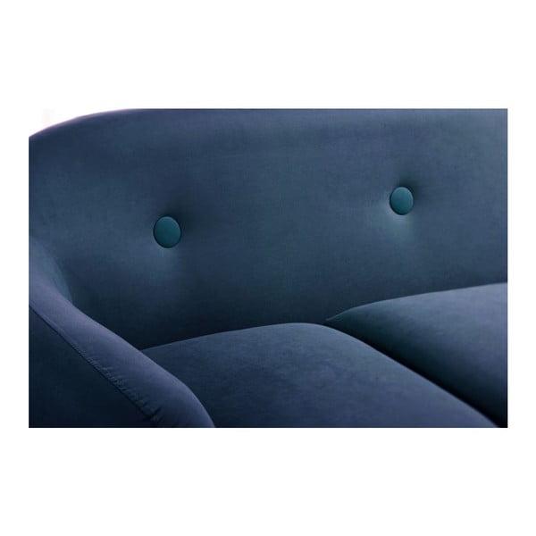 Pohovka Stella Navy Blue s leňoškou na pravej strane