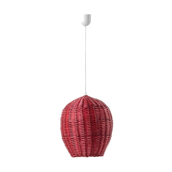 Stropné svetlo Egg, 22 cm, červené