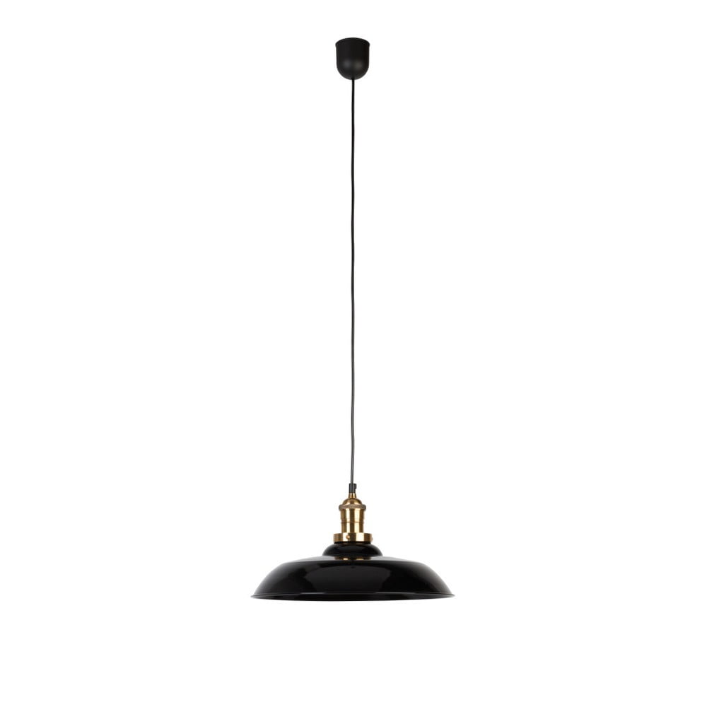 Čierne závesné svietidlo Dutchbone Core