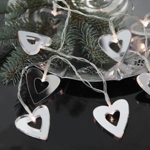 Svetelná reťaz Hearts 90 cm, zrkadlová
