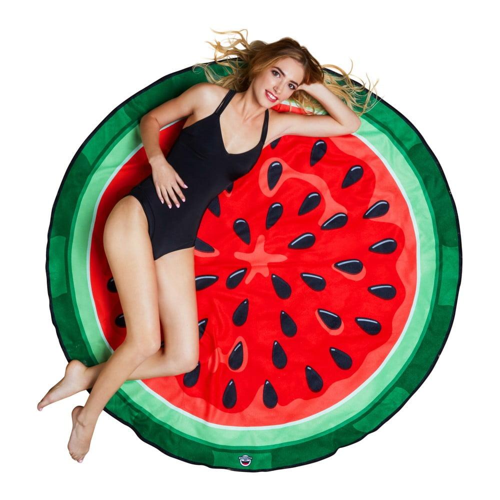 Plážová deka v tvare melóna Big Mouth Inc., ⌀ 152 cm