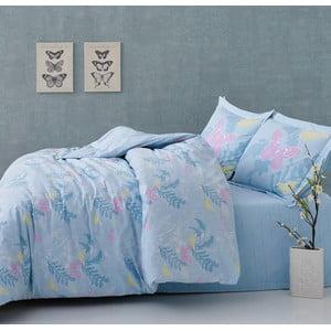 Obliečky Blue Butterflies s plachtou, 160x220 cm