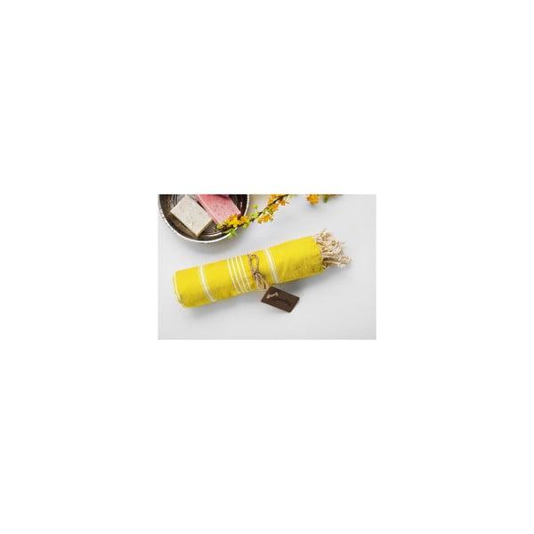 Hamam osuška Sabba Yellow, 100x180 cm