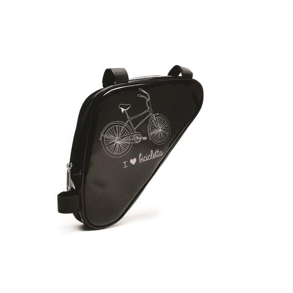 Taštička na bicykel I ♥ Bicicleta, čierna