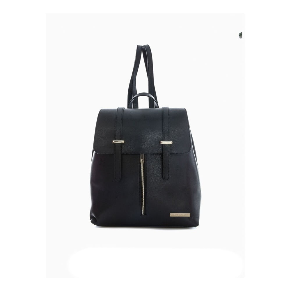 Čierny kožený batoh Sofia Cardoni Tefe