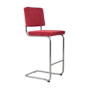 Červená barová stolička Zuiver Ridge Kink Rib