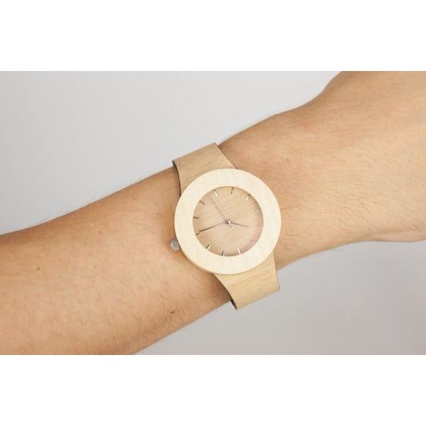 Drevené hodinky s hodinovými čiarkami Analog Watch Co. Silverheart & Maple