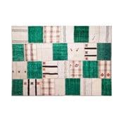 Vlnený koberec Allmode Green Kilim, 180x120 cm