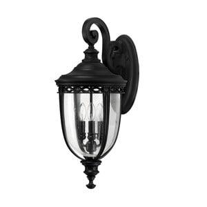 Čierne nástenné svietidlo Elstead Lighting English Bridle Uno Black