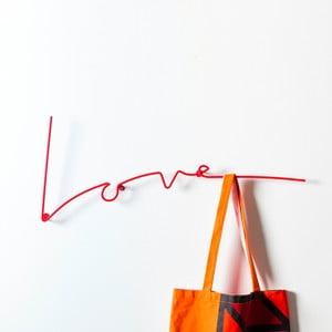 Vešiak Love Coat, červený