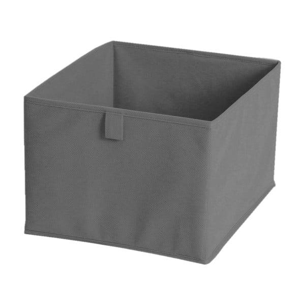 Sivý textilný úložný box JOCCA, 30×30 cm