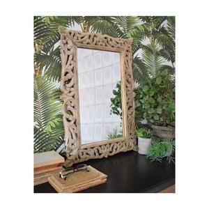 Zrkadlo z mangového dreva Orchidea Milano Vintage, 48 x 70 cm