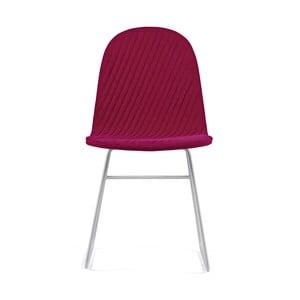 Ružová stolička s kovovými nohami IKER Mannequin V Stripe