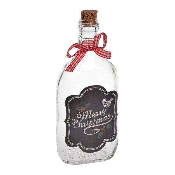 Sklenená fľaša Merry Chistmas Medium