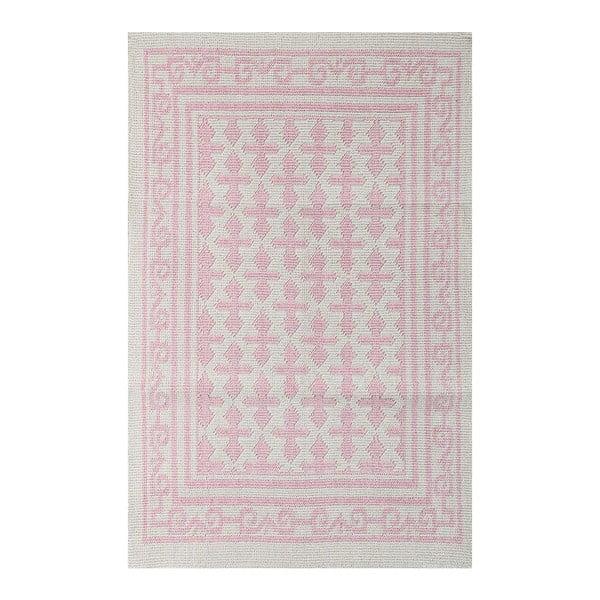 Svetloružový koberec Jamila, 140 x 200 cm