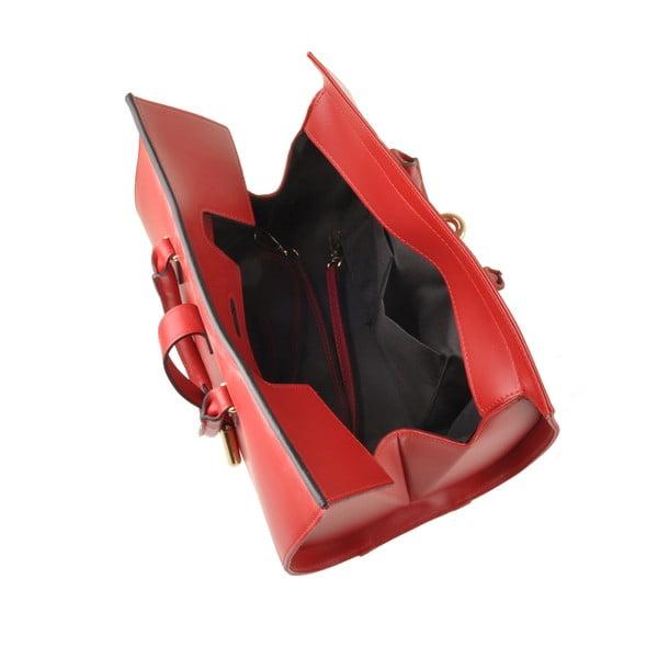 Kožená kabelka Emilio Masi Dabo, červená