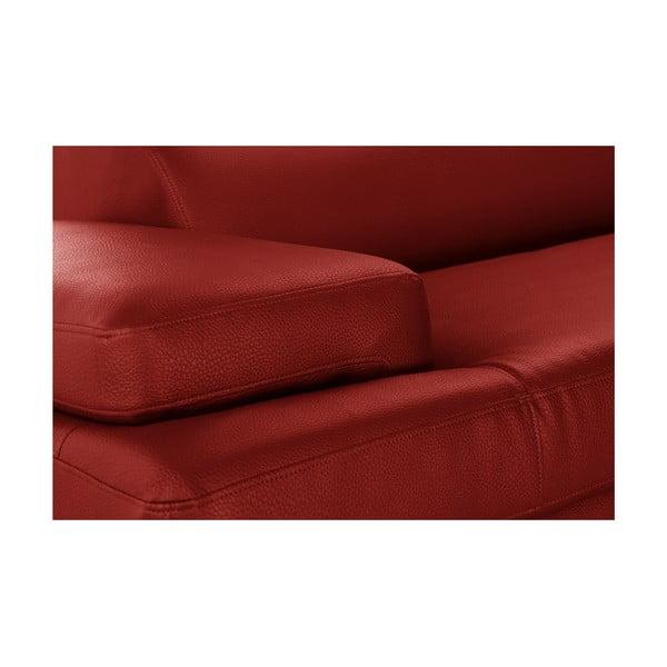 Červená rohová pohovka Corinne Cobson Home Speakeasy, pravý roh