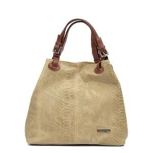 Béžová kožená kabelka Luisa Vannini Grissmo