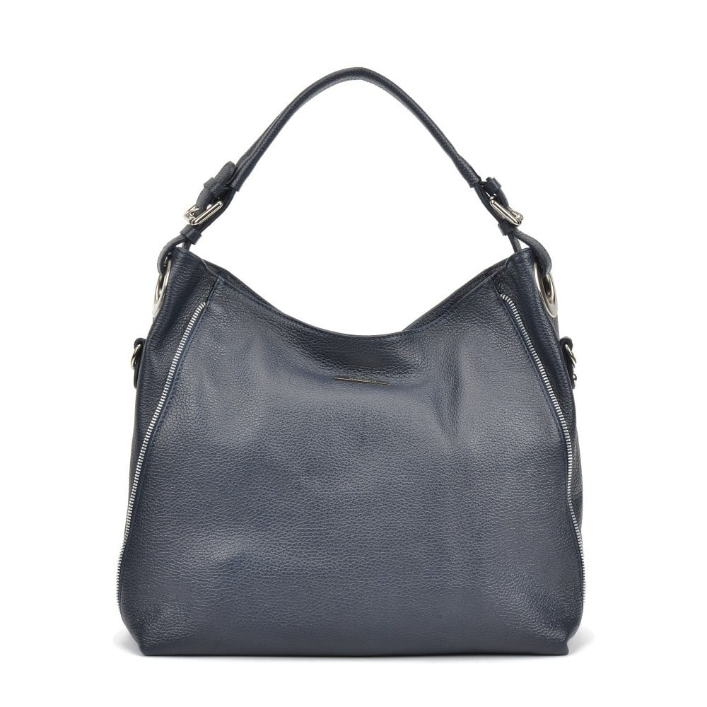 Námornícka modrá kožená kabelka Mangotti Cassie