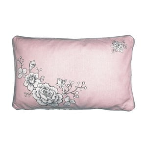 Ružovo-sivá obliečka na vankúš Green Gate Ella, 30 x 50 cm