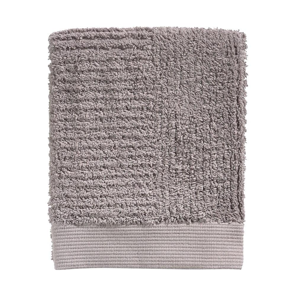 Tmavosivý bavlnený uterák Zone Classic, 70 x 50 cm